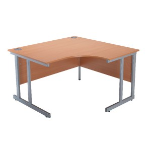 Jemini Intro 1200mm Radial Right Hand Cantilever Desk Bavarian Beech KF838526
