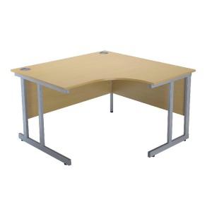 Jemini Intro 1200mm Radial Right Hand Cantilever Desk Ferrera Oak KF838527