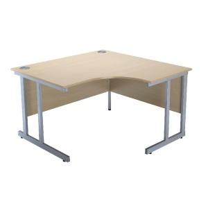 Jemini Intro 1200mm Radial Right Hand Cantilever Desk Warm Maple KF838528