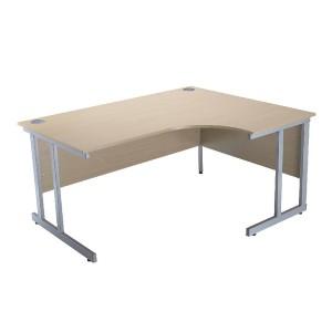 Jemini Intro 1500mm Radial Right Hand Cantilever Desk Warm Maple KF838531