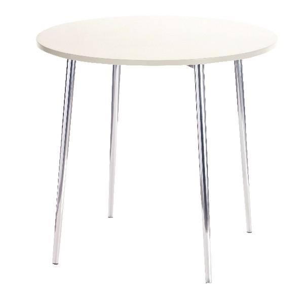 Arista Round Bistro Table White/Chrome