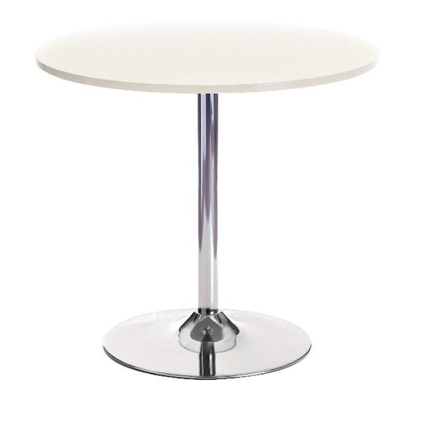 Arista Small Bistro Trumpet Table White