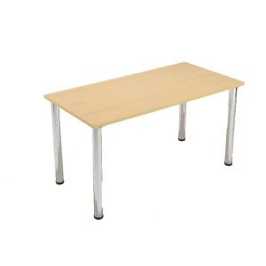 Jemini Rectangular Meeting Room Table  Standard Leg Beech KF838573