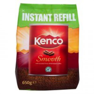 Kenco Smooth Freeze Dried Instant Coffee Refill 650g (Pk 1) 924778