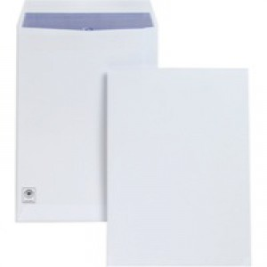 Plus Fabric Envelopes Pocket Press Seal 120gsm C4 White [Pack 250]