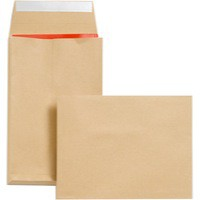New Guardian Envelopes Heavyweight Peel and Seal Gusset 25mm 130gsm Manilla 241x165mm [Pack 100]