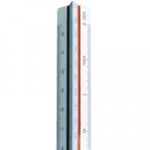 Linex Scale Rule Triangular 1 20-125 300mm White 311 LXH