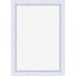 Decadry Certificate Paper A4 Spiral Blue Pk 25 OSD4040