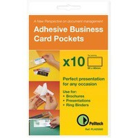 Pelltech Business Card Pocket 60x95mm Open Side Pack of 10 PLH25510