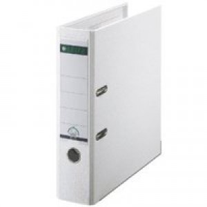Leitz Lever Arch File Polypropylene A4 80mm White 1010-01
