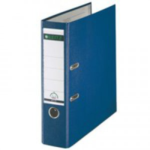 Leitz Lever Arch File Polypropylene A4 80mm Blue 1010-35