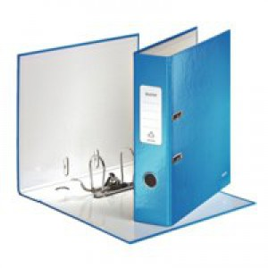 Leitz Wow Lever Arch File A4 80mm Metallic Blue 10050036