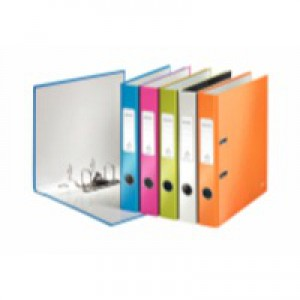 Leitz WOW Lever Arch File A4 50mm Assorted Pack of 10