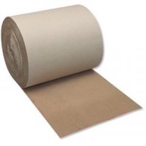 Ambassador Corrugated Paper Roll 900mm x75 Metres Recycled Kraft SFCP-0900
