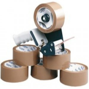 Ambassador Tape Dispenser with 6 Rolls Polypropylene Tape 50mm x66 Metres 9761BDP01
