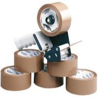 Ambassador Tape Dispenser with 6 Rolls Polypropylene Tape 50mm x66 Metres 9761BDP01