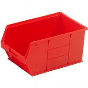 Barton TC5 Small Parts Container Semi-Open Front Red 12.8 Litre 200x355x175mm Pack of 10 010052