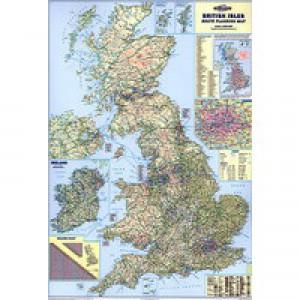 Map Marketing British Isles Motoring Laminated Map BIM