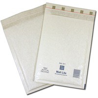 Mail Lite Bubble-Lined Postal Bag Self-Seal White 180x260mm Pack of 100 MLW D/1