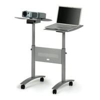 Nobo Multimedia Projector Trolley for 10kg Load per Twin Platform W860xD600xH1200mm Ref 1900791