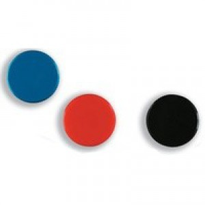 Nobo Magnetic Round Marker 20mm Assorted Pack of 10 1901016