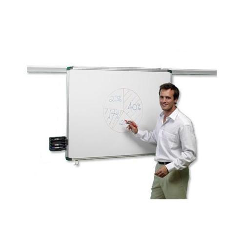 Nobo Pro Rail Magnetic Dry Wipe Board 1200x900mm 1901233