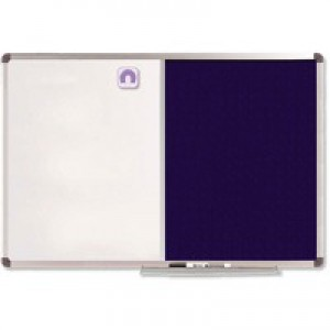 Nobo Elipse Combination Board Magnetic Drywipe/Blue Felt 900x600mm 1902257
