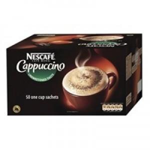 Nescafe Unsweetened Cappuccino Coffee Sachet 16gm Pack of 50 17624