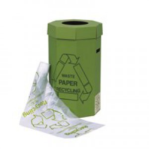 Green Bin for Recycling Waste Capacity 60 Litres [Pack 5]