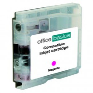 Office Basics Brother Remanufactured Inkjet Cartridge Magenta LC1000M