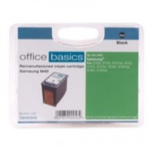 Office Basics Samsung M40 Inkjet Cartridge Black INKM40