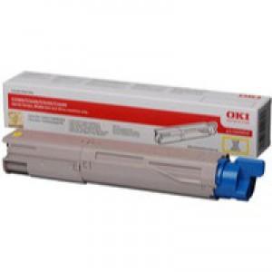 OKI Laser Toner Cartridge Page Life 1500pp Yellow Ref 43459433