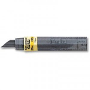 Pentel Refill Lead Extra-strong Hi-polymer in Tube of 15 x HB 0.9mm Ref 50/HB9 [12 Tubes]