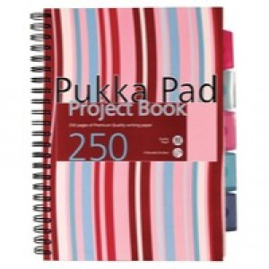 Pukka Pad A4 Project Book Hardback 250 Pages Ruled Feint CBPROBA4