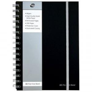 Pukka Pad A5 Poly Jotta Notebook 160 Pages Ruled Feint Black SBJPOLYA5