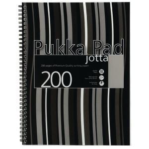 Pukka Pad Jotta Pad A4 Polypropylene Cover Black Stripe JP0185