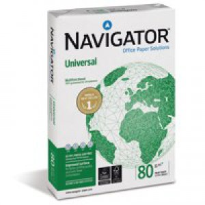 Navigator Universal Paper A4 80gsm White Ream NAVA480