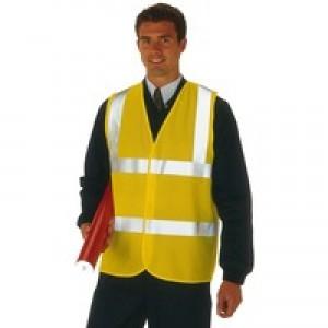 Proforce High Visibility 2-Band Waistcoat Yellow XX Large HV08YL560