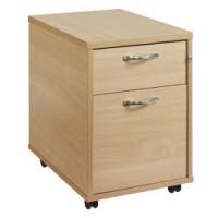 Image for 2 Drawer Mobile Pedestal-Maple