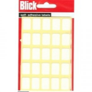 Blick Label Bag 12x18mm White Pack of 175 RS002758
