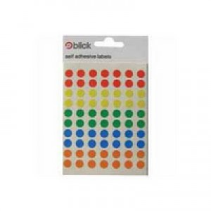 Blick Label Bag 8mm Assorted Pack of 350 RS003656