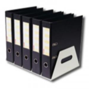 Lever Arch Filing Rack Portable Rigid Metal Grey A4