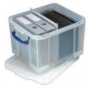 Really Useful 42 Litre Box and Lid Clear 520x440x310mm