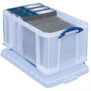 Really Useful Clear 48L Plastic Storage Box 600x400x310mm (Pk 1) 48C