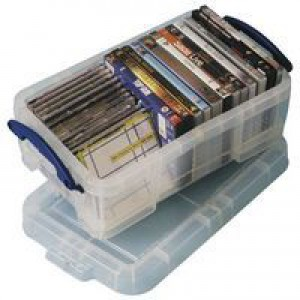 Really Useful 9 Litre Box with Lid Clear 395x255x155mm