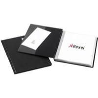 Rexel Slimview Display Book A4 24-Pocket Black 10015BK