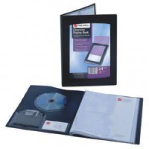 Rexel Clearview Display Book A4 12-Pocket Black 10300BK