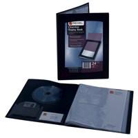 Rexel Clearview Display Book A4 24-Pocket Black 10320BK