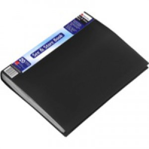 Rexel Display Book A4 20-Pocket Black 10555BK