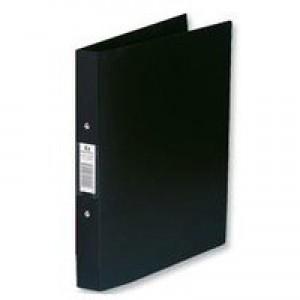 Rexel Budget 2-Ring Binder A4 25mm Polypropylene Black 13422BK